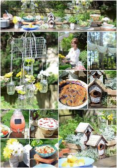 Great ideas for a fun garden party! Perfect for spring!