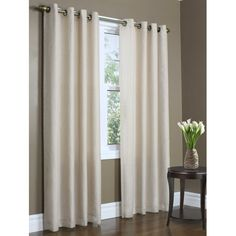 Zipcode Design Irene Solid Semi-Sheer Thermal Grommet Single Curtain Panel Curtain Color: Mushroom, Size per Panel: x Voile Panels, Sheer Curtain Panels, Lined Curtains, Colorful Curtains, Grommet Curtains, Sheer Curtains, Window Curtains, Window Coverings, Window Treatments
