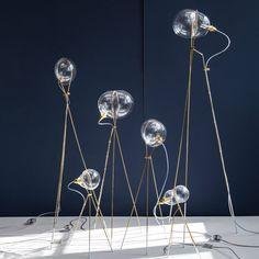 Ohad Benit shapes blown-glass Stress lights like soap bubbles
