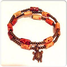 Turtle Bracelet Gift. Country Gypsy Wear Beaded by stinkncutemj