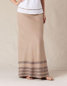 Linen Maxi Skirt - Boden - $89.60