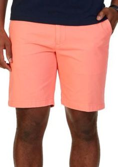 Nautica Pale Coral Classic-Fit Flat Front Deck Shorts