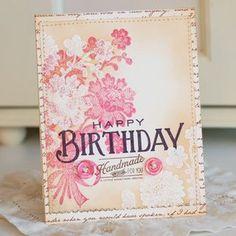 Lace Bouquet stamp set, Think Big Favorites #12 stamp set, Handmade Hodgepodge stamp set, Dearest Jane patterned paper collection