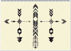 ARROW TATTOO DESIGN. This would make a perfect band piece