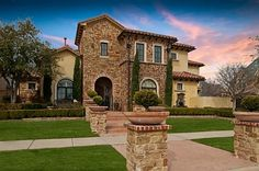 Tuscan style home in Frisco, Texas