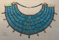 collar constructed of Egyptian faience beads, c.650-300 BCE, KM