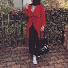 Lifestyle_azz Abaya Fashion, Muslim Fashion, Modest Fashion, Modest Outfits, Chic Outfits, Fashion Outfits, Womens Fashion, Fashion Art, Hijab Style