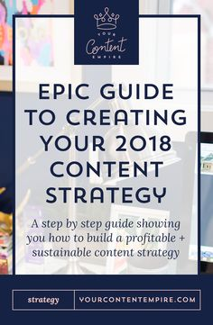 Epic Guide to Creating Your 2018 Content Strategy - Seriously, this post is everything. I can't wait to spend a day planning my 2018 content strategy! Inbound Marketing, Content Marketing Strategy, Online Marketing, Business Marketing, Media Marketing, Mobile Marketing, Marketing Plan, Creative Business, Business Tips
