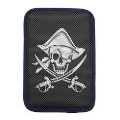 Shop Chrome Pirate on Carbon Fiber Sleeve For iPad Mini created by CaptainShoppe. Personalized Gifts For Kids, Customized Gifts, Custom Gifts, Embroidered Baseball Caps, Ipad Sleeve, Ipad Mini 2, Dog Bowtie, Apple Ipad, Carbon Fiber