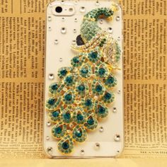 Peacock {HANDMADE crystal} #phonecase this is like mine, but mine is all white