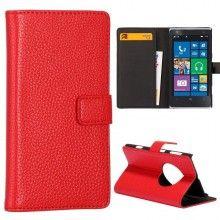 Capa Lumia 1020 - Tipo Carteira Vermelha  R$36,57