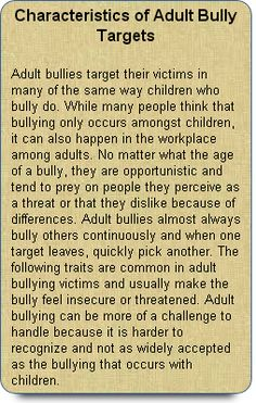 Characteristics of Adult Bully Targets Adult bullies target people who are good… Bullying Quotes, Anti Bullying, Stop Bullying Now, Bullying Lessons, Cyber Bullying, Adult Bullies, Workplace Bullying, Coaching