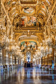 The gorgeous grand foyer of the Paris Opera House reminds me a lot of the Hall of Mirrors at Versailles. My apologies to the visitors who got photoshopped out of the image! HM for best viewing. And, as always, thanks for your kind visit! Le Palais, Grand Palais, Beautiful Architecture, Art And Architecture, Versailles Hall Of Mirrors, Palace Of Versailles, Hotel Des Invalides, Paris Opera House, Louvre