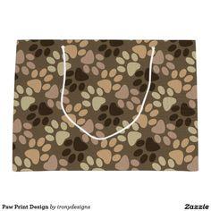 Paw Print Design Large Gift Bag