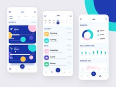 Everybody wants perfect health through fitness tracker but all fitness app have not that trending looks. So we have designed some colorful and vibrant fitness app concept. Web Design Mobile, Web Mobile, Interaktives Design, App Ui Design, Site Design, Flat Design, Gui Interface, Interface Design, App Design Inspiration