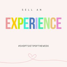 There is nothing more appealing than being relatable! Surprise your customers by selling an experience! www.shoptsie.com #sellonline #sellhandcraftedgoods #webshopforfree #teamshoptsie #shoptsietipoftheweek