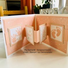 Stampin mit Scraproomboom: Pop-Up Karten für's Baby Stampin with Scraproomboom: Pop-up cards for the Pop Up Karten, Stampin Up Karten, Fancy Fold Cards, Folded Cards, Girl Shower, Baby Shower, Baby Boy Room Decor, Baby Rooms, Baby Boy Themes