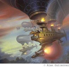 Airships! I do love steampunk airships!