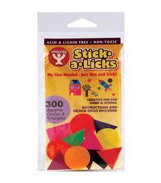 """Stick - A - Licks 300/Pkg - 1"""" Squares/Circles/Triangles"""