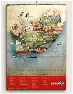 PPC Calendar by MUTI, via Behance