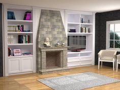 Muebles adaptados a chimenea completamente a medida todo - Muebles de salon con chimenea integrada ...