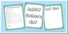 Free Father's Day Printables from 1+1+1=1