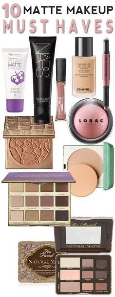 10 Matte Makeup Must-Haves to Keep Your Face Looking Fresh, Fab and Beautiful All Summer Long! Best Too Faced Products, Best Makeup Products 2017, Must Have Makeup Products, Makeup Must Haves, Beauty Products, Cat Eye Makeup, Eyeshadow Makeup, Make Makeup, Drugstore Makeup