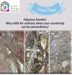HDC Design Delights! Why settle for ordinary when your countertop can be extraordinary?
