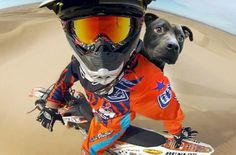 """...shortly after he gave into his """"need for speed"""" and decided motorcross may be his true calling after all..."""