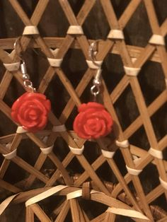 Hey, I found this really awesome Etsy listing at https://www.etsy.com/listing/553503298/red-rose-earrings-rose-drop-earrings