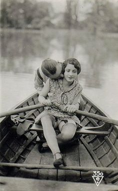 boating kiss....