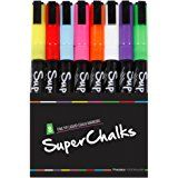 Amazon.com : Chalk Markers 8 Colors With Bonus 24 Chalk Stickers - Premium Erasable Liquid Chalk Marker Pen with Reversible Tip - Perfect for Mason Jars, Windows, Glass, Labels, Whiteboards : Office Products