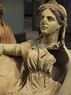 A Votive Statue of Kore from a sanctuary in the Valle Ariccia Roman 4th-3rd century BCE (3)  Terracotta