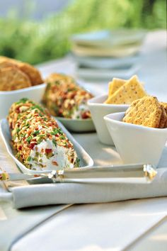 Cream Cheese-Olive Spread - Host a British-Style Tea - Southernliving. This savory spread makes a nice partner for mostly…