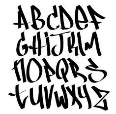 Let's do some graffiti alphabet for ur notes! Graffiti Alphabet Styles, Graffiti Lettering Alphabet, Tattoo Lettering Fonts, Hand Lettering Styles, Graffiti Font, Calligraphy Fonts, Graffiti Letter D, Graffiti Tagging, Graffiti Artists