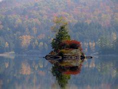Lower Saranac Lake, Adirondack Mts, NY, USA