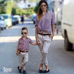 little boy outfits to make your boy look fashionable 23 Mom And Son Outfits, Outfits Niños, Little Boy Outfits, Family Outfits, Baby Boy Outfits, Mommy And Son, Mom Son, Mother Daughters, Kids Fashion Boy