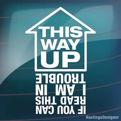 THIS WAY UP IF YOU CAN READ Funny Car/Window JDM VW EURO DUB Vinyl Decal Sticker   eBay