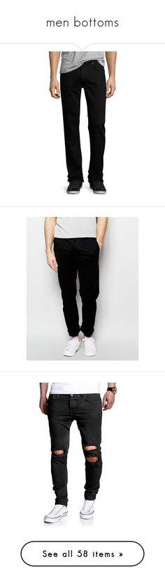 """men bottoms"" by sportsgirl-i on Polyvore featuring men's fashion, men's clothing, men's jeans, trivor, mens super skinny stretch jeans, mens zipper jeans, j brand mens jeans, mens straight leg jeans, mens button fly jeans and men's pants"