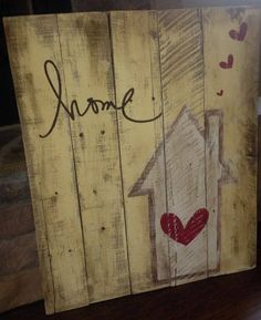 Create Simple Pallet Wood Projects To Enhance Your Home's Interior Decor Arte Pallet, Pallet Art, Pallet Signs, Decoration Palette, Decoration Entree, Pallet Crafts, Wooden Crafts, Diy Crafts, Diy Projects To Try