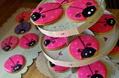 with some pink girly flare!  Yes, these are pink lady bug cookies, because almost everything is better in pink, is it not? But more importa...