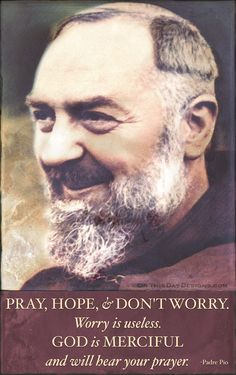Sept 23 is St. Padre Pio's feast day. St. Padre Pio pray for us!