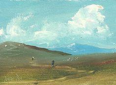 Adam Kos: Working in the Fields at Noon Irish Painters, Street Gallery, Kos, Paths, Fields, Ireland, Street Art, Cottage, Landscape