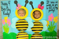 Bee Photo Booth! Entire HUGE list of Bee Theme Birthday Party Ideas!