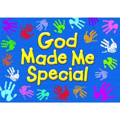 TA-67711 God Made Me Special ARGUS Large Poster Add inspiration to your wall space. Well-known scripture verses reinforce Christian values and bring a sense of God's love to children and adults of all