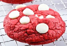 Red Velvet White Chocolate Chip Cookies...soft, chewy and seriously CRAZY delicious!!!  All Scratch