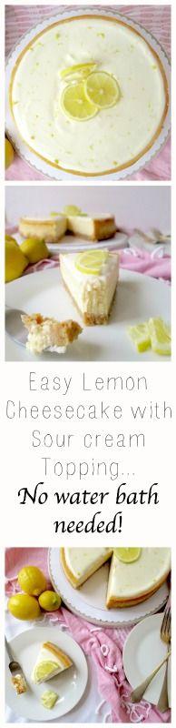 The easiest lemon cheesecake you'll ever make!