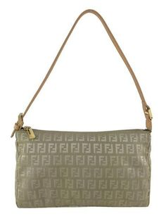 Fendi Zucchino Canvas Pochette Bag. Consigned Designs ff1461b4b2b5a