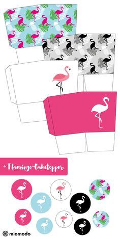"★ DIY gift boxes ""Flamingo"" - all-invitations. Flamingo Party, Flamingo Birthday, Halloween Paper Crafts, Halloween Kids, Luau Party Decorations, Diy Gift Box, Gift Boxes, Free Boxes, 40th Birthday Parties"