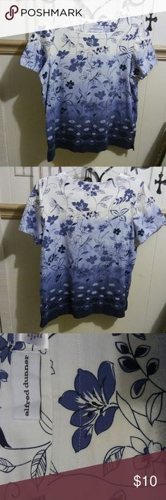 Alfred Dunner shirt Cotton/spandex/very nice/like new Alfred Dunner Tops Blouses